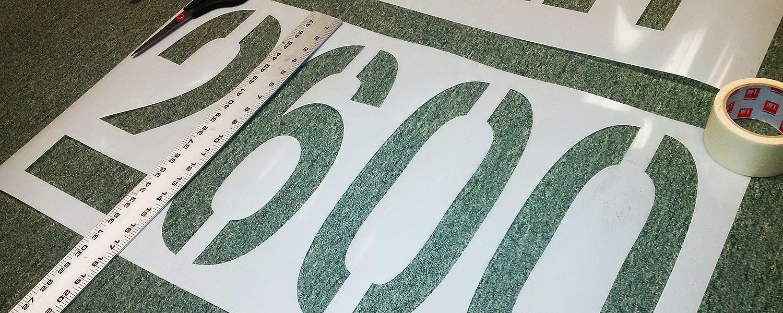 Custom Stencil Made Of Mylar, Plastic, Vinyl, Polycarbonate Stencils